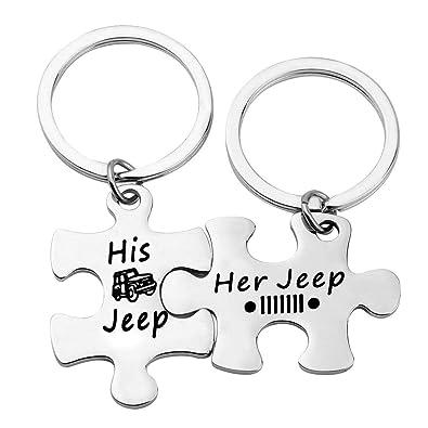 Amazon.com: Juego de llavero de regalo para pareja de Jeep ...