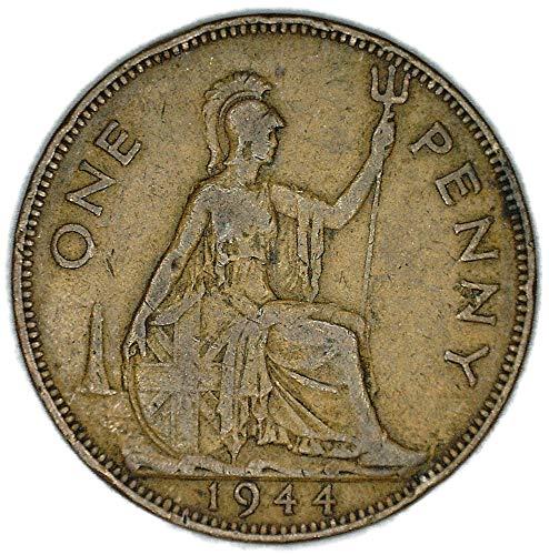 1944 UK Great Britain George VI Bronze Penny Good