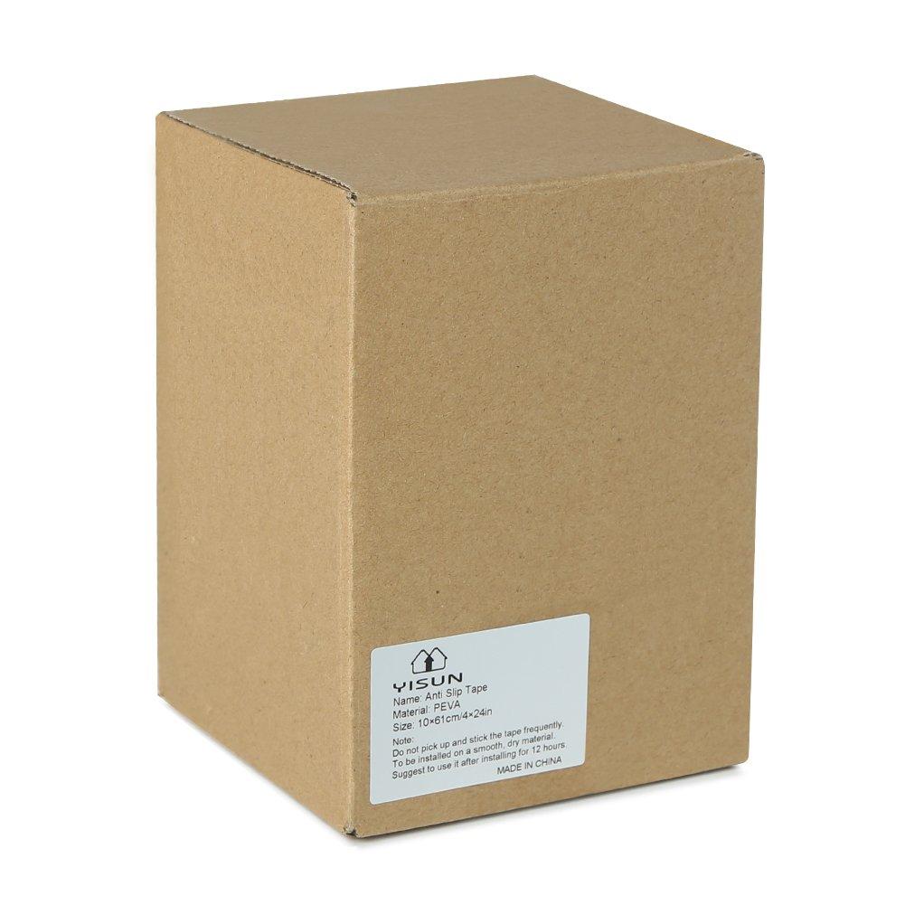YISUN 15 Piezas/Paquete Antideslizante Escalera Antideslizante Cinta Transparente Tapete Adhesivo Escalera, Interior Exterior Evita Deslizamiento PEVA (10 ...