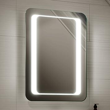 500 X 700 Mm Modern Illuminated Battery LED Light Bathroom Mirror MC157
