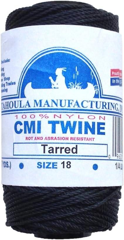 Catahoula Manufacturing #18 Tarred Braided Bank Line 1//4 lb Spool Inc.