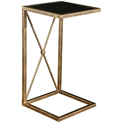 Genial Uttermost 25014 Zafina Side Table, Gold