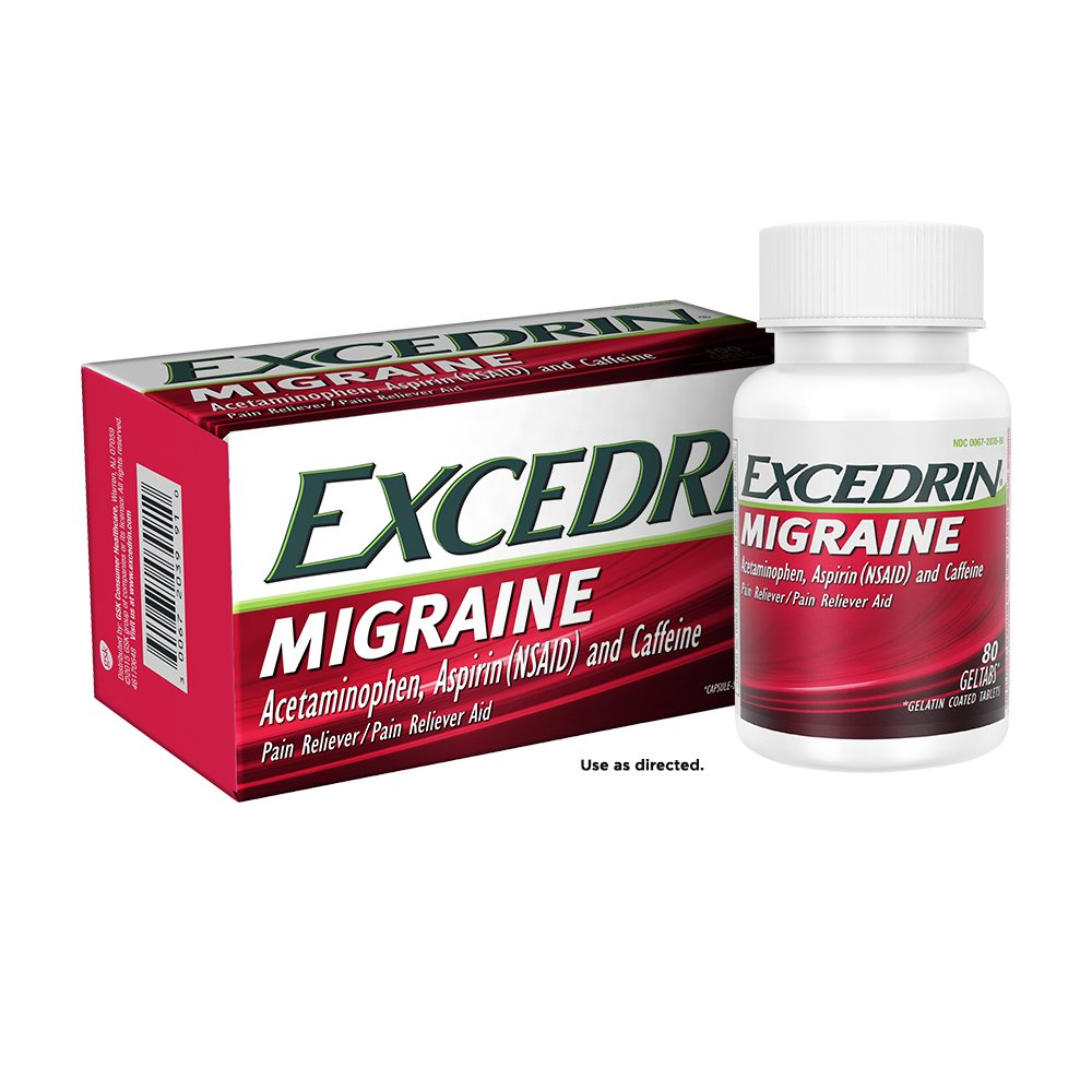 Excedrin Migraine for Migraine Relief, Geltabs, 80 Count (Pack of 2) by Excedrin