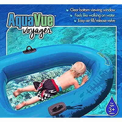 Sieco Design AQUAVUE Voyager, Clear Bottom Inflatable Raft, for Kids and Adults: Toys & Games