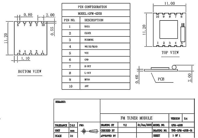 C.J. Shop® 5pcs TEA5767 programable de baja potencia módulo de radio FM estéreo nuevo: Amazon.es: Electrónica
