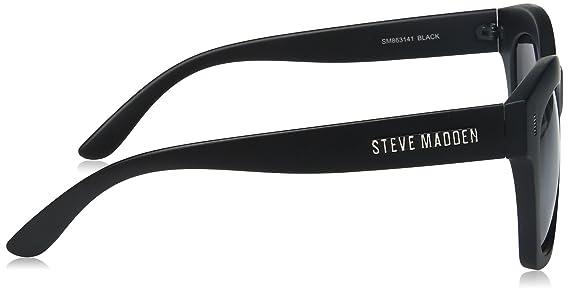 e4af4551ab Amazon.com  Steve Madden Women s Olivia Retro Square Sunglasses ...