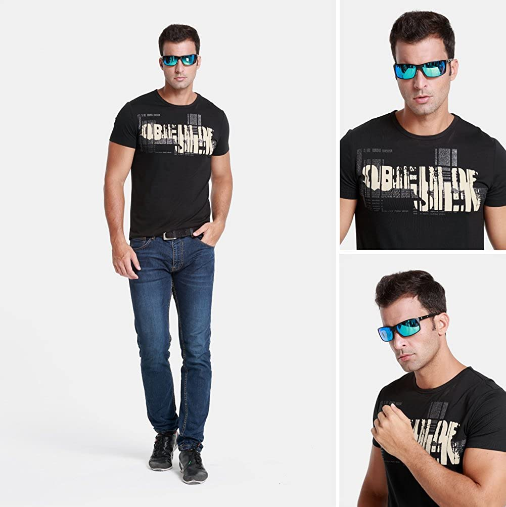 268c712b59 Duco Mens Sports Driving Metal Frame Eyewear Polarized Sunglasses for Men  9018 DC-9018-