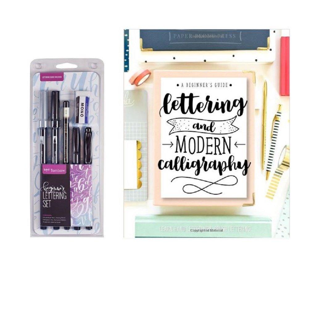 Lettering kit : Tombow Lettering Set Marker & Lettering and Modern Calligraphy: A Beginner's Guide: Learn Hand Lettering and Brush Lettering