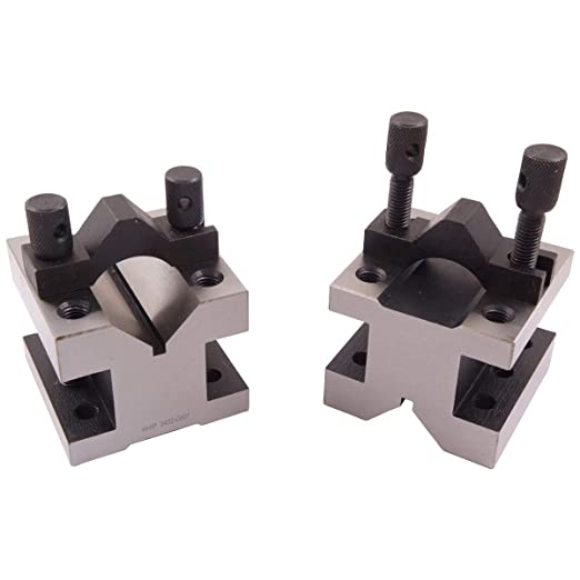 """Cast Iron Vee Block Set Of 2 Pieces 4/"""" x 1-1//2/"""" x 3/"""" Inch V Block Without Clamp"""