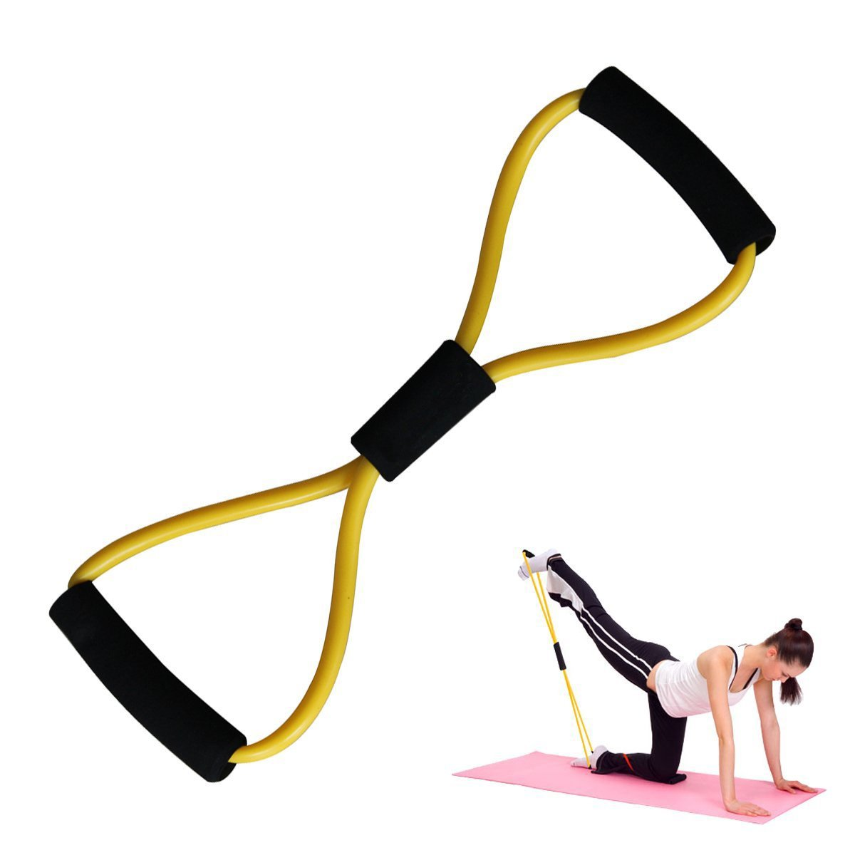Sunor figura 8 cables de ejercicio para yoga fitness workout ...