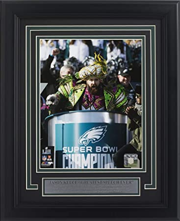Jason Kelce Professionally Framed Eagles 8x10 Super Bowl 52 LII Parade  Speech Photofile Photo 7f631d963