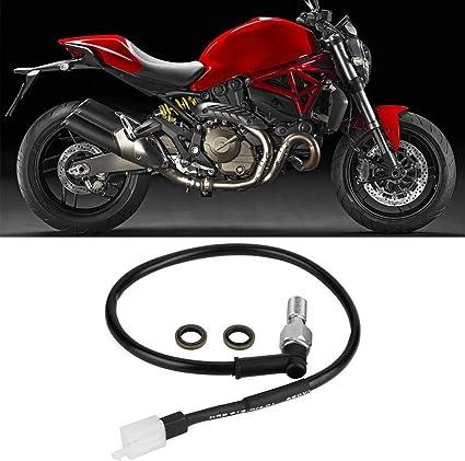 Bremsschalter M10x1.00mm Motorrad Hydraulisches Bremslicht Druckschalter Kabel Passend f/ür 250 EXC hinten Bremslicht Druckschalter