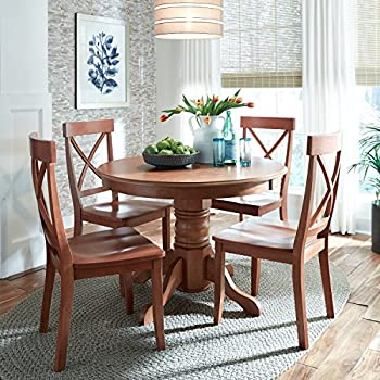 Home Styles 5179-30 Round Dining Table with Pedestal Base, Cottage Oak Finish, 42-Inch by 30-Inch