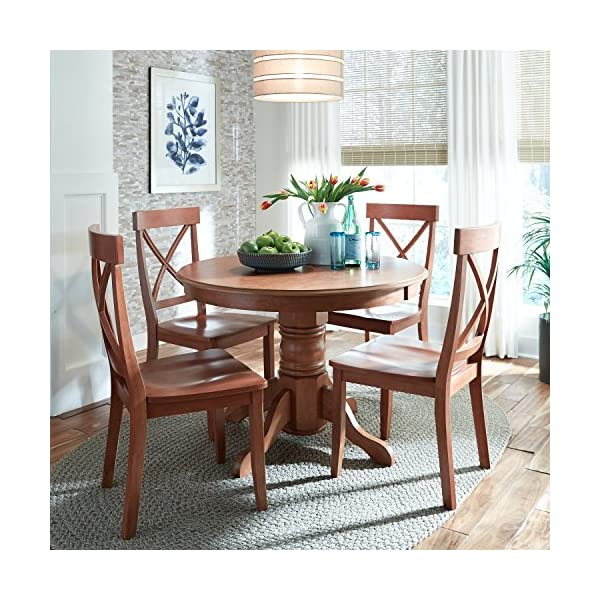 """Cottage Oak 42"""" Round Pedestal Dining Table by Home Styles"""