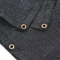 e.share 90% Black Shade Cloth 6ft x 8ft Heavy Duty Shade Mesh Tarp