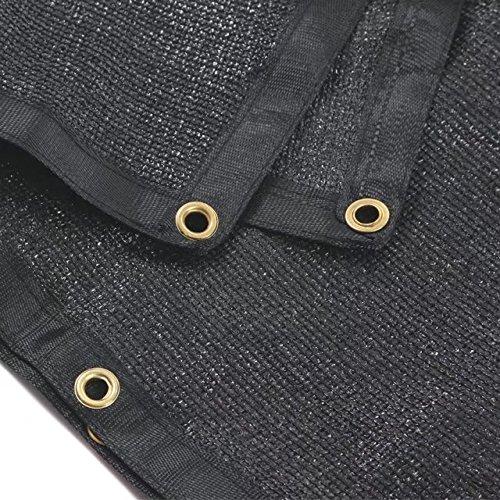 e.share 90% Black Shade Cloth 20ft x 30ft Heavy Duty Shade Mesh Tarp 30' Black Mesh