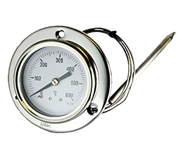 AM Y C TE/XF Termómetro para forno, forno estufa de leña, barbacoa 0-600°C con sonda: Amazon.es: Jardín