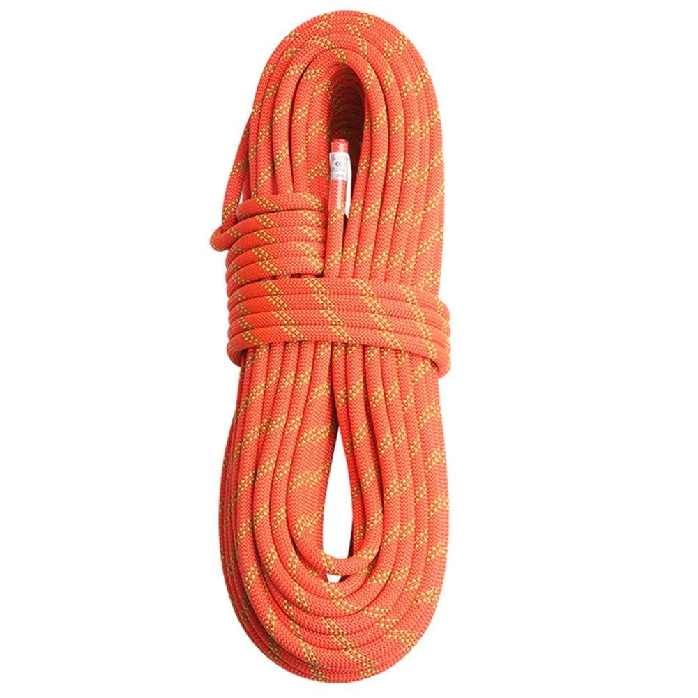 クライミングロープ、プロフェッショナル屋外スタティックロッククライミングロープ、エスケープロープアイスクライミング機器消防パラシュートロープ(12 mm),Orange,100m 100m Orange B07QS1J444