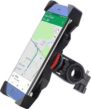 Soporte Móvil Bicicleta,FEYG Universal Soporte Movil Bici Moto Soporte Para Teléfono Celular Rotación 360 Para Accesorios Para Bicicletas Compatible con 3,5 a 6,5 (Negro): Amazon.es: Deportes y aire libre