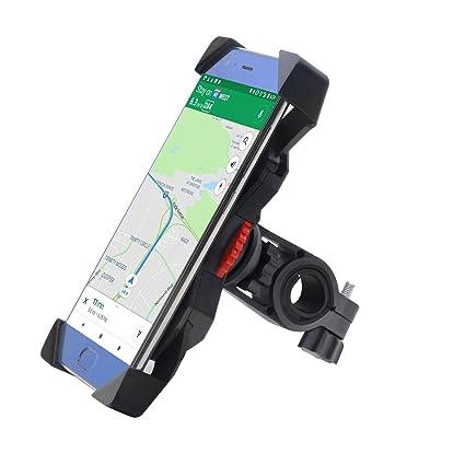 Soporte Móvil Bicicleta,FEYG Universal Soporte Movil Bici Moto Soporte Para Teléfono Celular Rotación 360