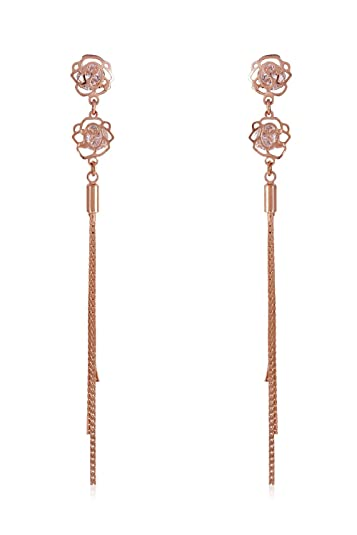 notonthehighstreet product of celestial earrings original long com doseofrose dose rose by chain asymmetric