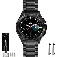 OTOPO No Gaps metalowy pasek kompatybilny Samsung Galaxy Watch 4 klasyczny pasek 46 mm, solidna bransoletka ze stali…