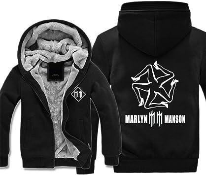 メンズパーカーフルジップベルベット印刷秋MARLYN分厚いフード付きセータージャケットフリース冬のパーカー