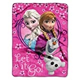 Disney Frozen Springtime Let It Go! Silk Touch Plush Throw - 46'' by 60''