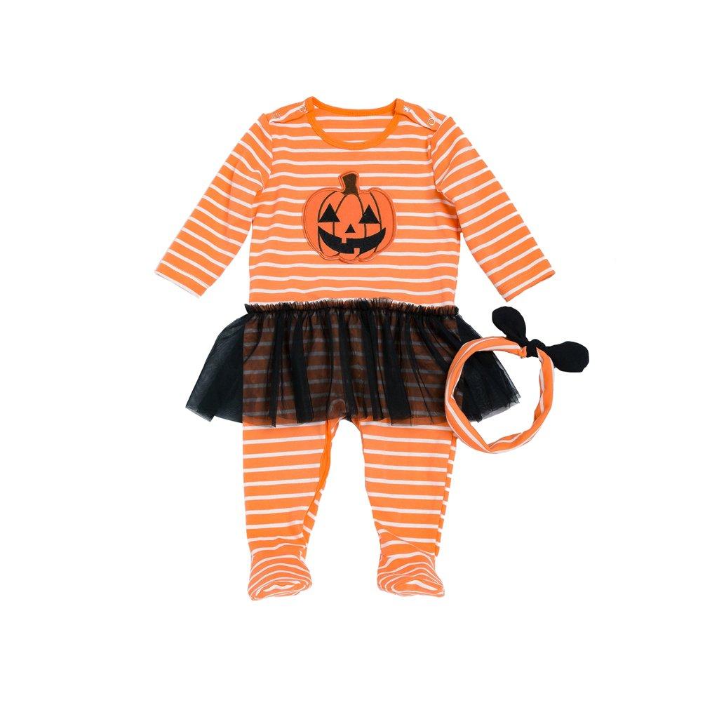 Sronjn Halloween Neonato ragazze costumi del bambino del fumetto attrezzatura Pagliaccetto infantile Tutina