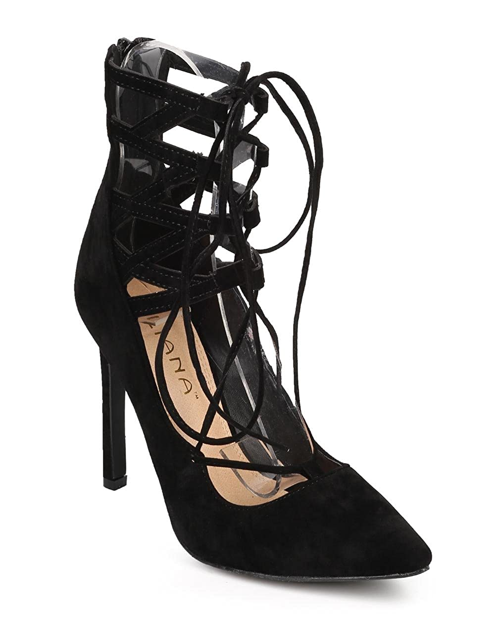bd9f96d293b01 Liliana Selina-6 Womens Lace Up Dress Pumps