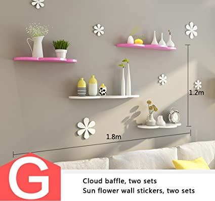 Mensole creative a parete, divisori, decorazioni per muri per ...