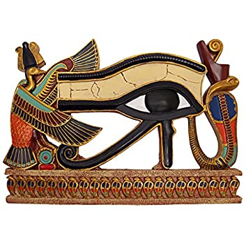 Rameses I Between Horus And Anubis Design Toscano Hand Painted Wall Frieze