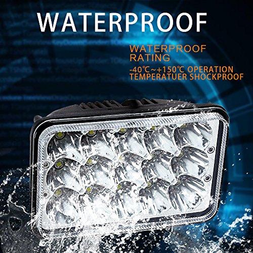 Sealed Beam 4x6 LED Headlights Rectangular H4 Plug For ...