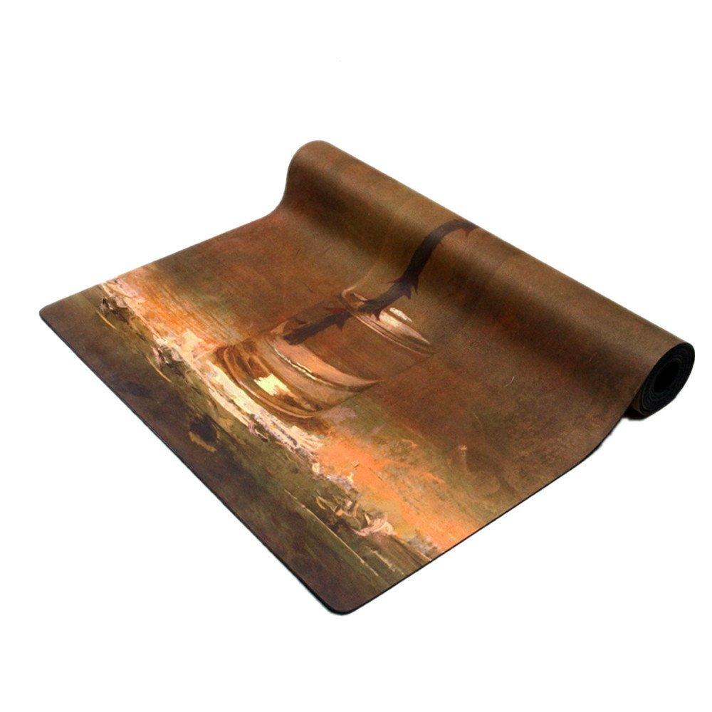 ヨガマットRubber0.35mmジムファミリーのための環境に優しいデリシャスフィットネスマットヨガマット。   B07CSM5RYP