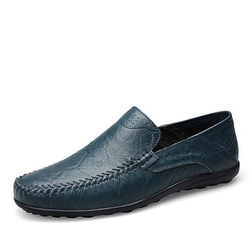 Mocasines Hombre Slip On Artesanal Hilo de Coser Conducción Verano Transpirables Viajar Zapatos: Amazon.es: Zapatos y complementos