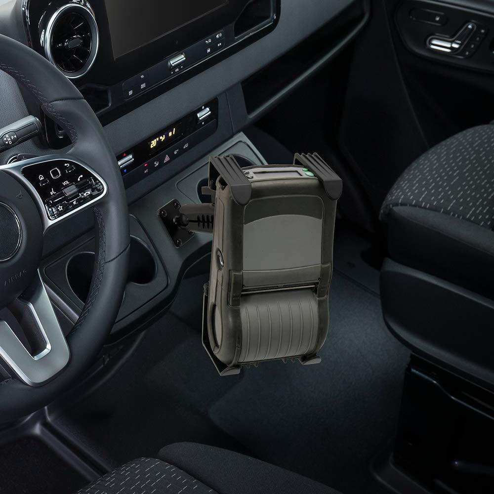 Arkon Portable Mobile Printer Car Truck Drill Base Mount for Zebra Epson Brother Printers Retail Black
