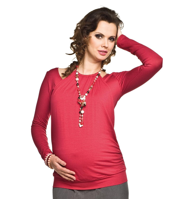 Elegantes und bequemes Stillshirt, Umstandsshirt, Modell: PERLA langarm  oder kurzarm: Amazon.de: Bekleidung