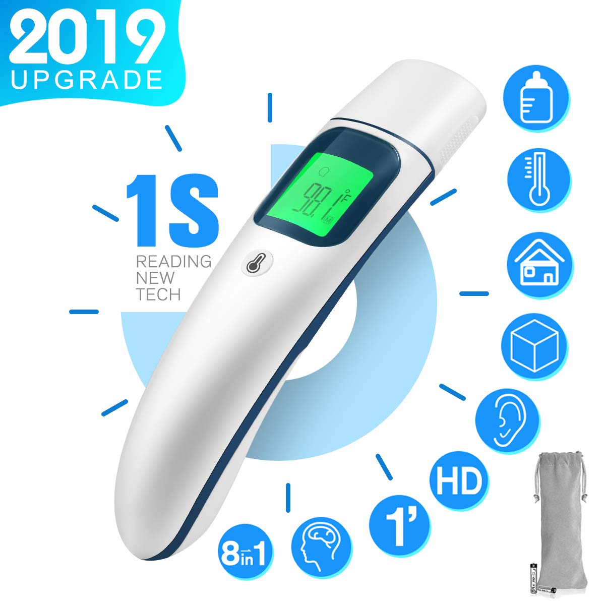New Version Forehead and Ear Thermometer for Fever by Chooseen Infrared Fever Thermometer,1s Accurate Reading,8-in-1 Professional Digital Medical Thermometer for Infant, Children and Adult