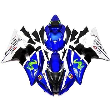 Sportfairings Cubre completo azul inyección plástico ABS moto Kit carenado para Yamaha YZF600 R6 2008-