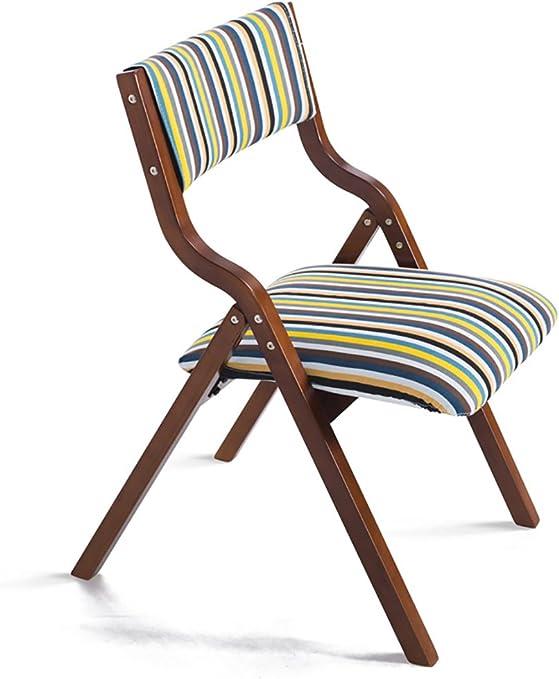 Sencillo y Moderno hogar sillas Plegables de Madera Silla de Tela Silla de Ordenador (7 Colores Opcional) (Color : E, Tamaño : L*W*H:48.5 * 46 * 78.5cm): Amazon.es: Hogar