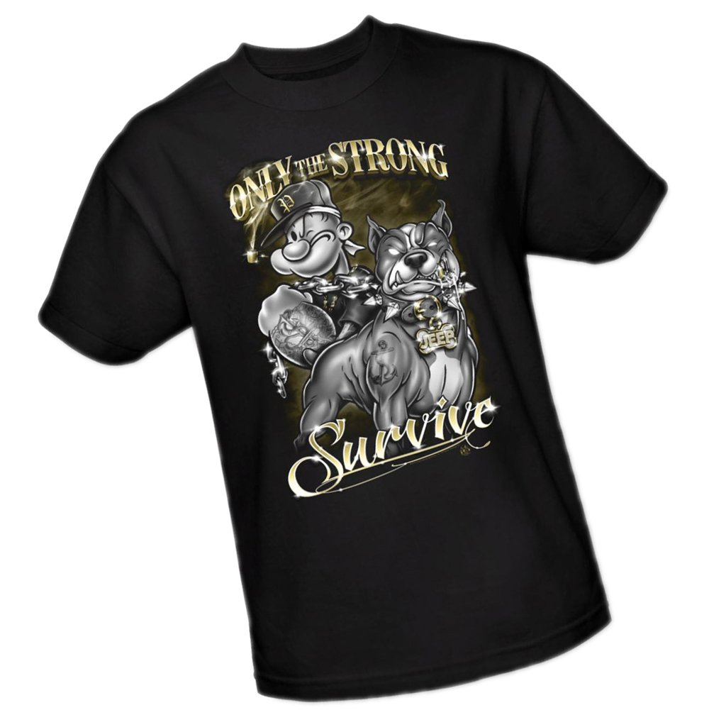 Popeye Only The Strong Survive Adult T Shirt