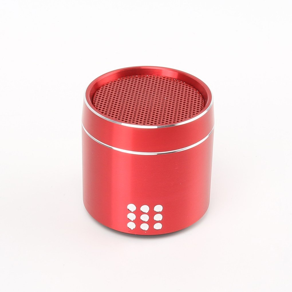 EgalBest PTH-02 Small Portable Bluetooth Speaker Wireless HD Sound Enhanced Bass Subwoofer for Office Home Party red Car Electronics Accessories