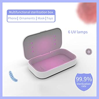 Kdely Wireless Charger UV Sterilizer Mobile Phone Sterilization Box cleaner 10W Qi Fast Charging Disinfection Box for Samsung Galaxy S20 Ultra