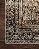 """Loloi II Layla Collection Area Rugs, 5'-0"""" x 7'-6"""", OLIVE/CHARCOAL"""