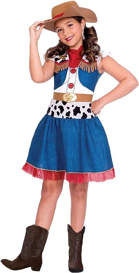 Fancy Me Disfraz de Vaquera para niñas con diseño de película de ...
