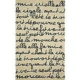 Liora Manne Spello Poem Rug, Indoor/Outdoor, 24-Inch by 36-Inch, Black