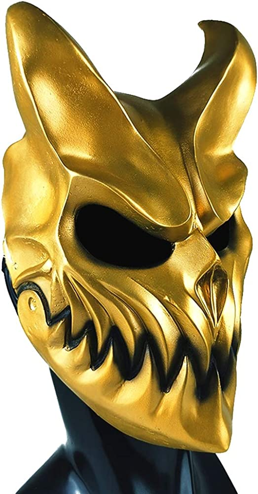 Slaughter To Prevail Mask Kid of Darkness Demolisher Mask Demon Mask for Music Festival and Halloween Party Prop.