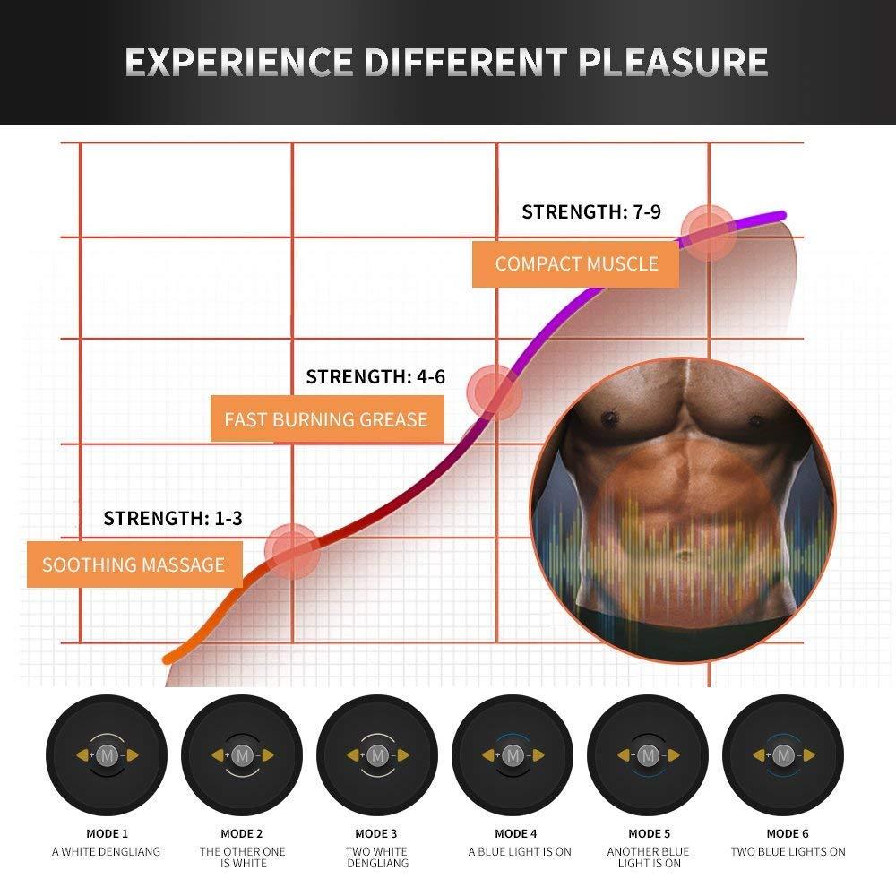 Stimulateur Muscle Intelligent Portable Accueil AB Toner pour Hommes Femmes Poids Amaigrissant /Électronique Toner Musculaire Abdominal Machine