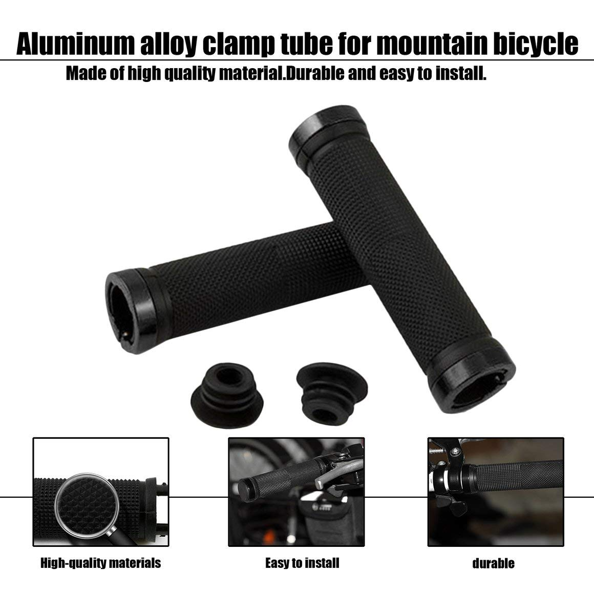 Funnyrunstore Mountain Cycling Bike Bicicleta MTB Manillar Pu/ños Mango Antideslizante de Goma