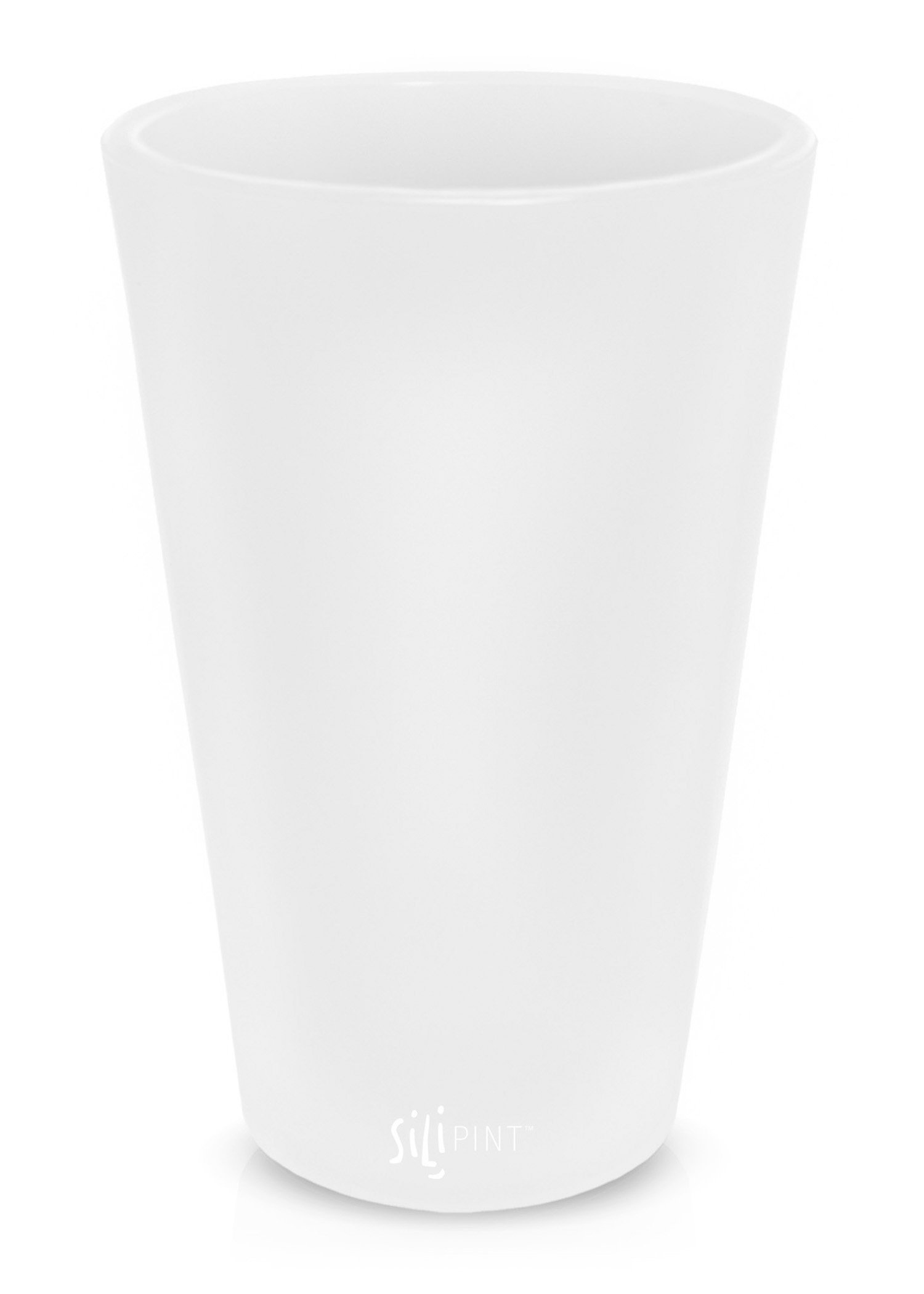 Silipint Silicone Pint Glass, Patented, BPA-Free, Shatter-proof, Unbreakable Silicone Cup Drinkware (Single, Frosted White) by Silipint